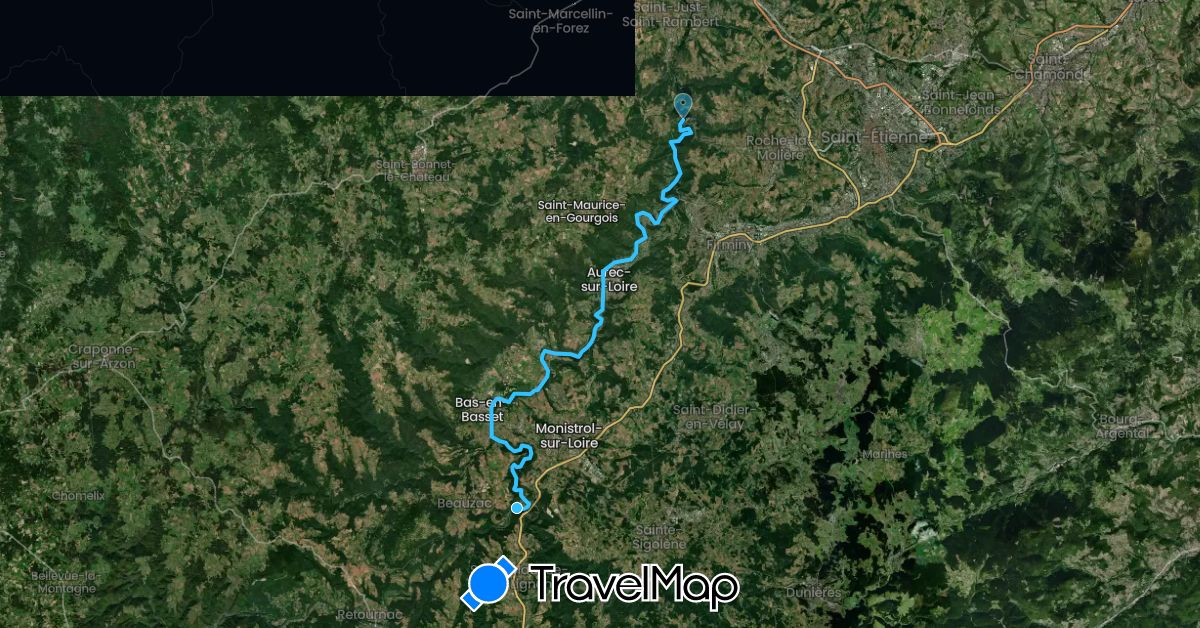 TravelMap itinerary: driving, boat in France (Europe)