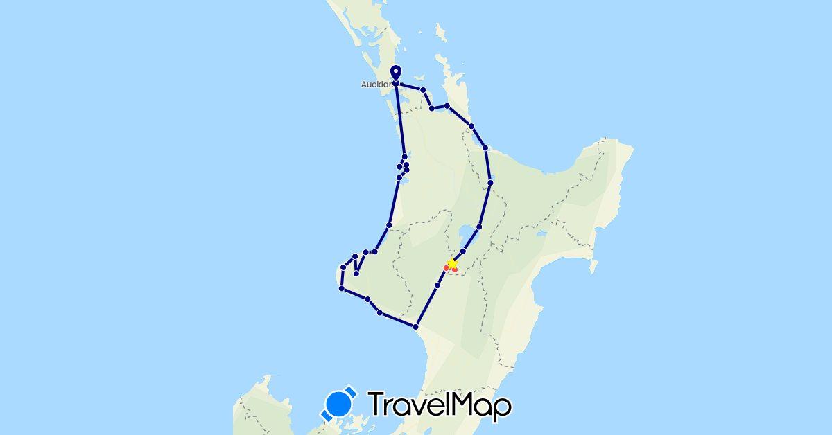 TravelMap itinerary